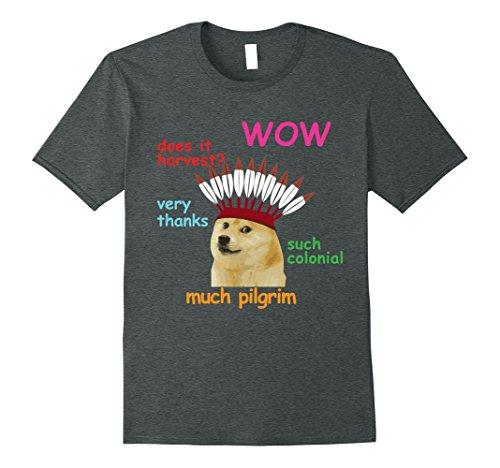 Mens Thanksgiving Doge Meme Dog Shinu Iba Tee 3XL Dark He...