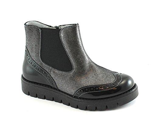 Balocchi Spielzeug 977 807 30/35 Dover Schwarze Mädchenschuhe Stiefel Zip Beatles Englisch Nero
