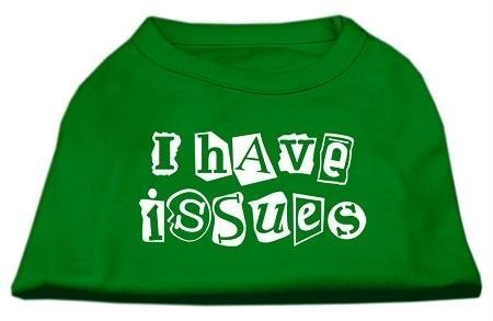 Mirage Pet Products 12-Inch I Have Issues Screen Printed Dog Shirts, Medium, Emerald Green by Mirage Pet Products