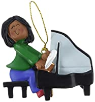 Ornament Central OC-122-FAA Female African/American Piano Player Figurine