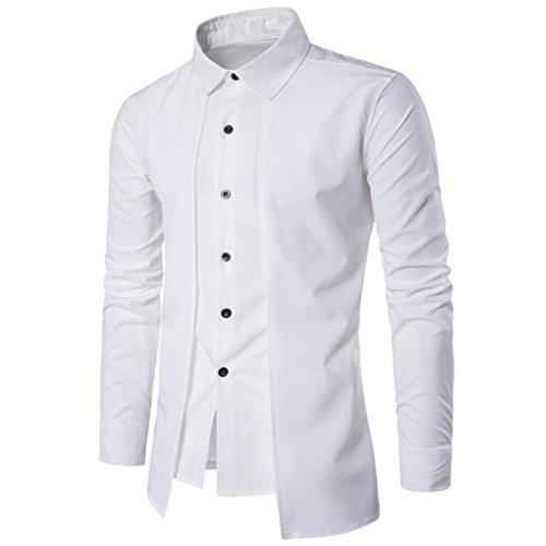 Bianco Camicia A Business Magliette Maglietta Tinta Eleganti Uomo Moda Top Unita Dress Shirt Casual Camicetta Colori T Camicetta shirt YxUREq