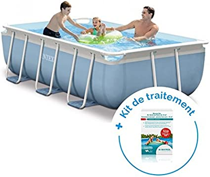 RAVIDAY Pack piscina tubular Intex Prism Frame 3 x 1,75 x 0,8 m + ...