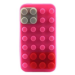 LCJ Silicon Block Case with Cable Wrap for iPhone 4 , Pink