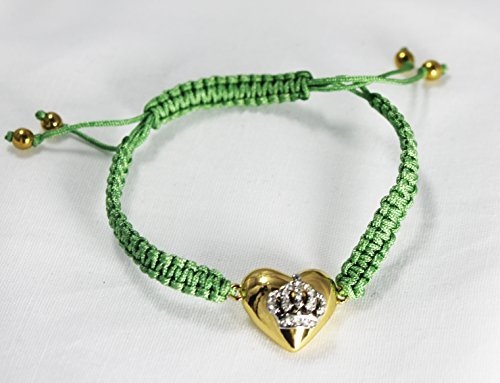 Juicy Couture Friendship String Cord Bracelet (Crown Heart/Green) ()