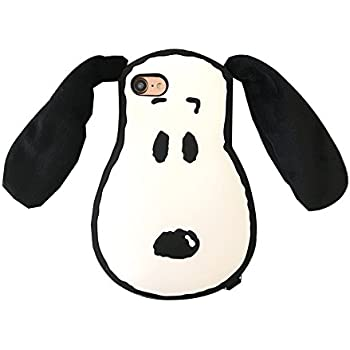 9b6f56f7028651 Movable Cloth Ears Peanuts Snoopy Dog Case for iPhone6 iPhone6s Pet Soft  Silicone 3D Cartoon Protective