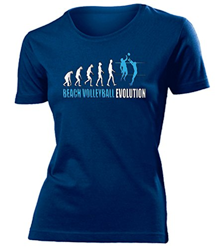 BEACH VOLLEYBALL EVOLUTION mujer camiseta Tamaño S to XXL varios colores marina / Azul