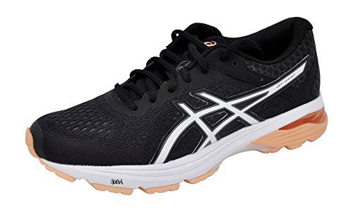 ASICS Women's GT-1000 6 Running-Shoes Black/Cantel/Carbon, 9.5 B(M) US