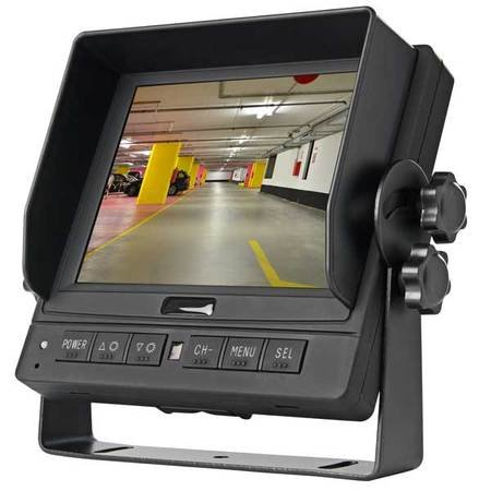 Dash Mount 5 in Mobile Monitor with 3-Channel Video Switcher