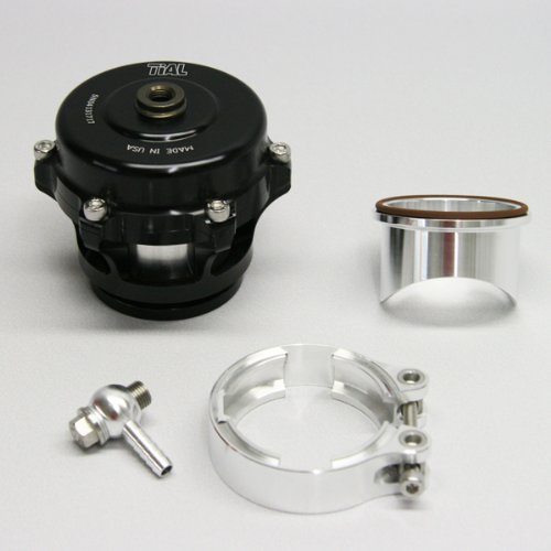 (TiAL Q.11BK Q Series Blow Off Valve 50mm BOV Black 11 PSI Spring Aluminum Flange by TiAL)
