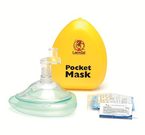 Laerdal Pocket Mask with Glove and Wipe in Hard Case ()