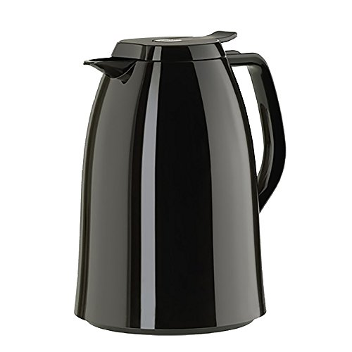 - Emsa Mambo High Impact Plastic Thermal Carafe with Glass Liner, 51 oz, Black