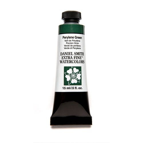 DANIEL SMITH Extra Fine Watercolor 15ml Paint Tube, Perylene Green