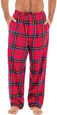 Alexander Del Rossa Men's Lightweight Flannel Pajama Pants, Long Plaid Cotton Pj Bot