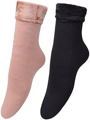 Womens Thick Winter Socks Warm House Nylon Sock Soft Fleece Liner Floor Socks