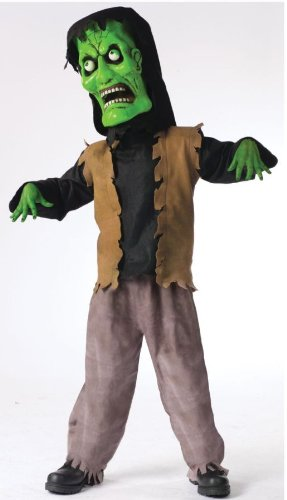 Bobble Head Monster Costumes - Bobble Head Monster Green Large Costume