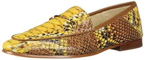 Sam Edelman Womens Loraine Yellow Multi Sand Snake Leather 8.5 M