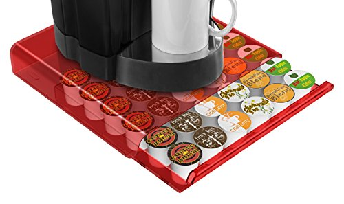 Mind Reader ACRTRY02-RED Hero 36 Capacity Coffee Pod Draw...