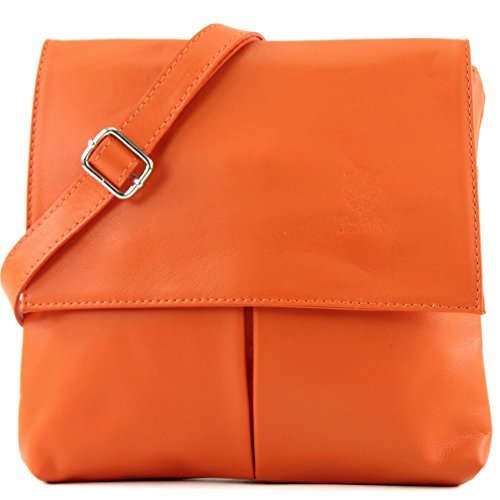 Orange bag Italian bag real bag leather women's shoulder messenger T63 satchel dqvxngYwqr