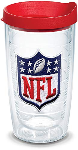 (Tervis 1039099 NFL National Football League Logo Tumbler with Emblem and Red Lid 16oz,)
