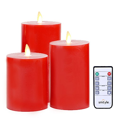 battery candles with timers red - 6