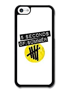 MMZ DIY PHONE CASEAMAF ? Accessories 5 Seconds Of Summer Boyband Yellow Logo case for iphone 4/4s