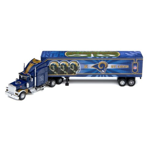 St. Louis Rams 2006 NFL Peterbilt Tractor-Trailer (Tractor Peterbilt Trailer Upper Deck)