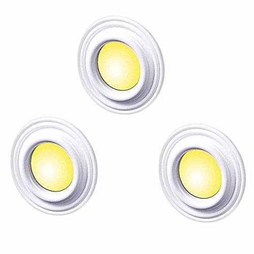 3 Spot Light Trim Medallions White Urethane 4