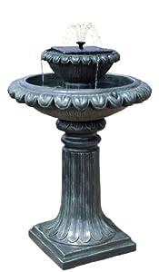 Ambiente fontana da giardino ad energia solare fontana con luci led giardino e - Luci ad energia solare per giardino ...