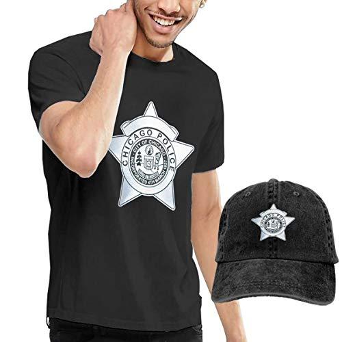 Arsmt Chicago Police T-Shirts Short Sleeve Denim Hat -