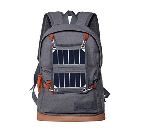 Outdoor Backpack Backpack Charging USB Solar Blue ZHANGQIAN Sports Solar Grey Gray HqwEAn0