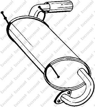 Preishammer Endschalld/ämpfer D/ämpfer Abgasanlage
