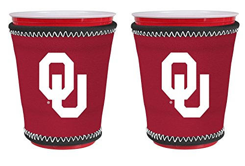 - NCAA College Team Logo New Drink Glass Cup Insulated Kup Holder 2-Pack (Oklahoma Sooners)