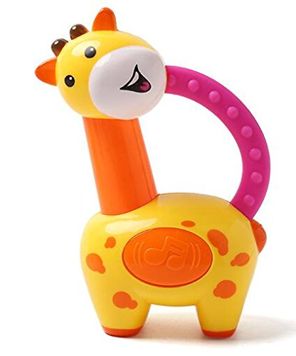 bf3ddf8dcf5 Amazon.com: Baby Teether Giraffe Toy with Baby Rattle - Baby ...