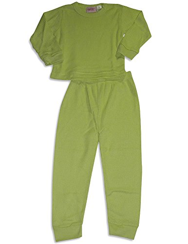 Carter's Watch the Wear - Little Girls' Long Sleeve Thermal Set, Lime 27435-6X