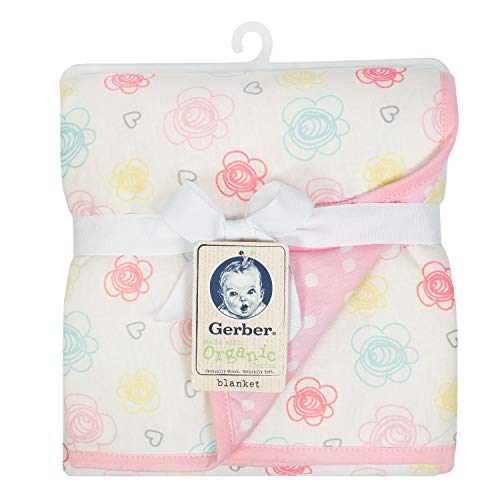Gerber Organic 2-Ply Blanket, Multi Floral, One Size