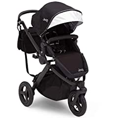 Inspire a new generation of adventure seekers with the J is for Jeep Brand Sport Utility All-Terrain Jogger Stroller! Combining the comfort and convenience of a traditional full-size stroller with the performance of a rugged jogger, you can e...