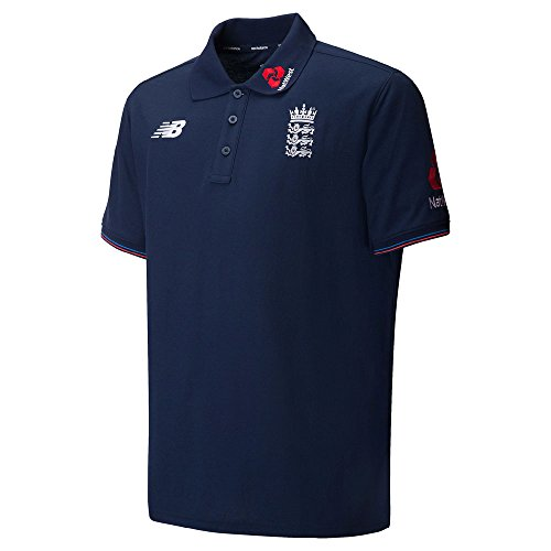 (New Balance England Cricket Training Media Polo Shirt - Pigment - Large )