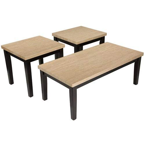 - Ashley Furniture Signature Design - Wilder Two-Toned Occasional Table Set - Contains Cocktail Table & 2 End Tables - Contemporary - Espresso Brown