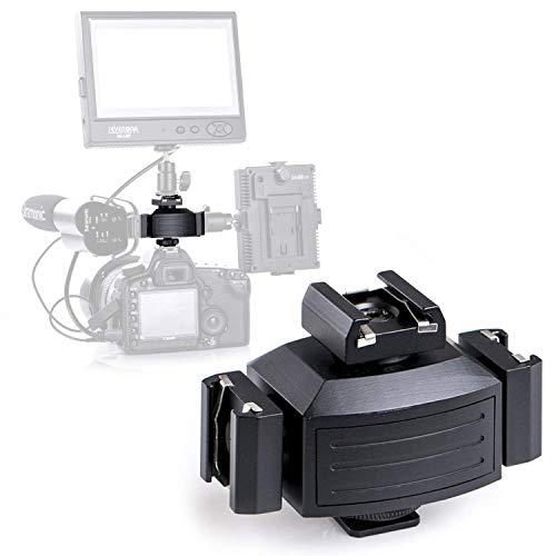 Aluminium Pro Tripod Shoe Camera Mount Adapter for LED Monitors Video Lights, Microphones, Audio Recorder & Studio Flash Bracket Video Camera