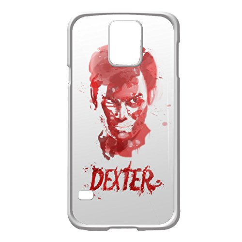 Price comparison product image dexter tv series blood face for Samsung Galaxy S5 White case
