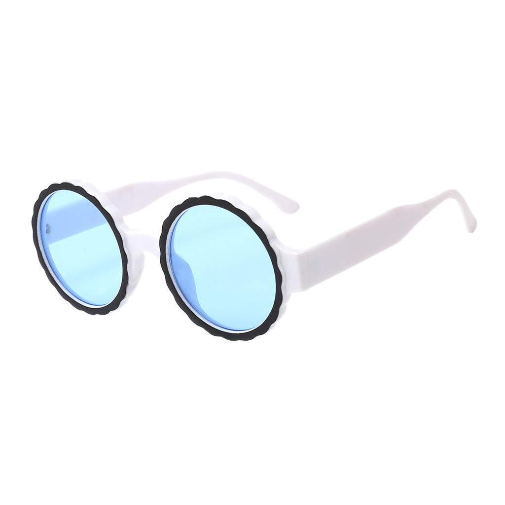VECDY Gafas De Sol Mujeres Gafas Redondas De Gafas De Sol ...
