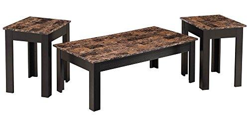Simmons Upholstery & Casegoods 7108-43 3PK Occ Tbl Coffee Mrbl/Merlot Table (3 Pack) (Merlot Tables Nesting)