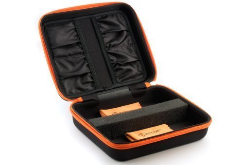 3ACTIVE Twin Storage Case for Two 3D Glasses. Includes Cleaning Cloths.