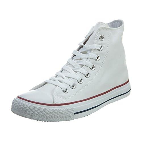 chollos oferta descuentos barato Converse Chuck Taylor All Star Hi Top Zapatillas Unisex Adulto Blanco Optical White 37 EU