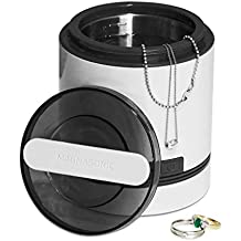 Magnasonic Ultrasonic Dental & Jewelry Cleaner Machine, Compact 7 oz. (220 ml) Tank, Professional Strength Cleaning of Dentures, Retainers, Razors, Rings, Necklaces, Coins, Tools & Parts (UC21)