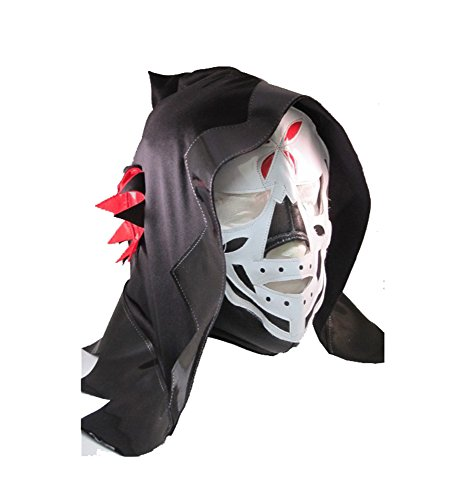 La Parka Costume (LA PARKA Lucha Libre Wrestling Mask (pro-fit) Costume Wear - Black)