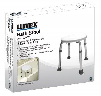 Lumex 2060R-1 Round Bath Stool, Retail Package by Lumex   B00576XOXC