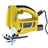 800W Handle Laser LED Lights Jig Saw Kit, Variable 6 Speed Electric Saw with 5.9FT Cord, Parallel Guide, Two Blades with 1.8M Cable Length [US STOCK]