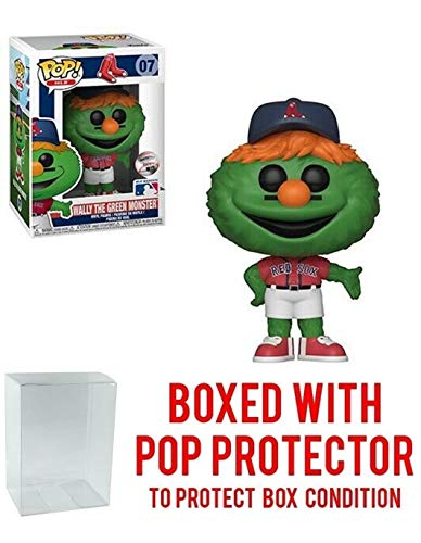 POP! Sports MLB Mascots Boston Red Sox, Wally The Green Monster Action Figure (Bundled with Pop Box Protector to Protect Display Box)