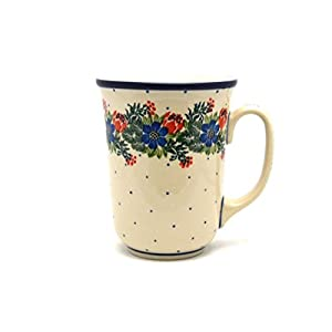 Polish Pottery Bistro Mug – 16 Oz – Garden Party – Ceramika Artystyczna